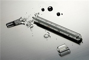 Медицинский ртутный термометр