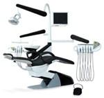 Стоматологическая установка Smile Elegant с нижним подключением шлангов.  Представитель высшего класса установок.